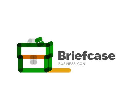 minimal: Line minimal design briefcase