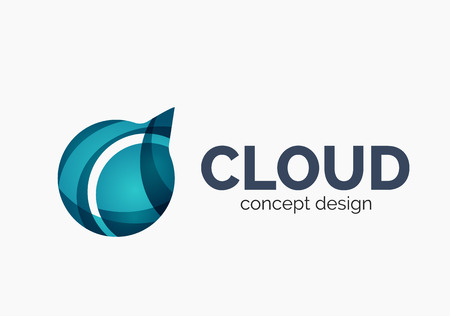 artistic logo: Modern cloud logo Illustration