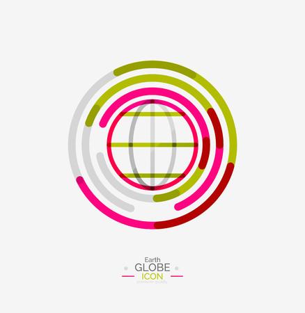 globe earth: World globe icon stamp