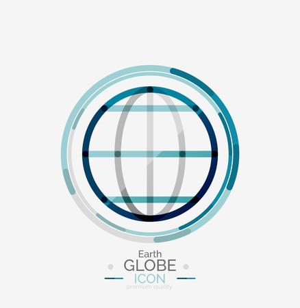 World globe stamp Illustration
