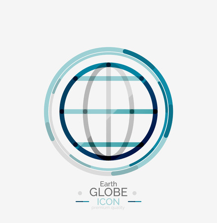 global design: World globe stamp Illustration