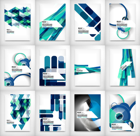 site template: Geometric abstract business template Illustration
