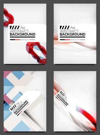Set of Flyer Templates, Business Web Layouts Illustration