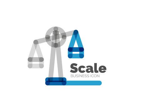 minimal: Line minimal design scale Illustration