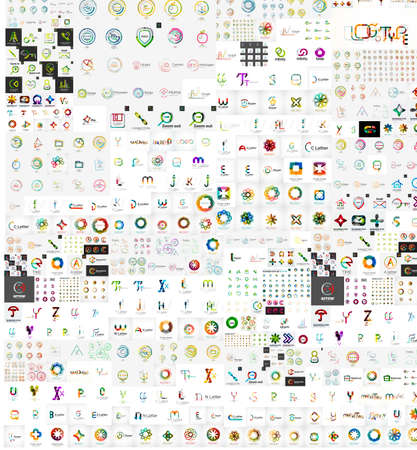 Huge mega collection of company logo icons