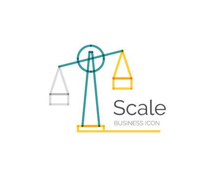 minimal: Line minimal design logo scale