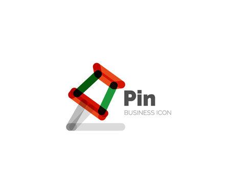 minimal: Line minimal design logo pin