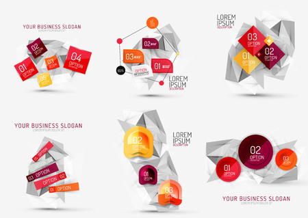 communication concept: Set of fresh business abstract infographic Illustration