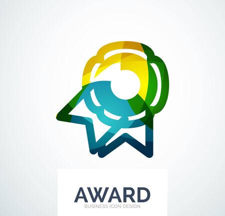 medal like: Colorful award business logo