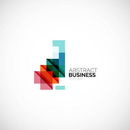 Square concept, company logo design element Illustration