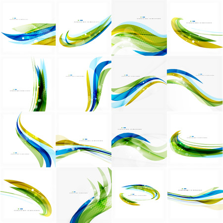Groen en blauw licht luchtleidingen Stock Illustratie
