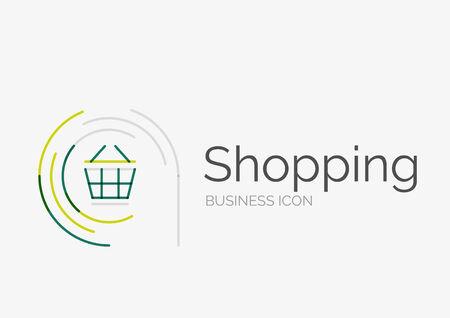 Thin line neat design , shopping cart icon Vector