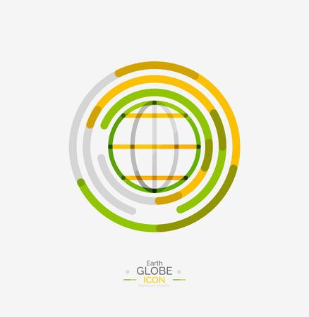 world globe: World globe icon stamp