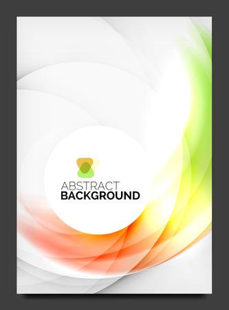 Panfleto moderno abstrato - modelo de brochura