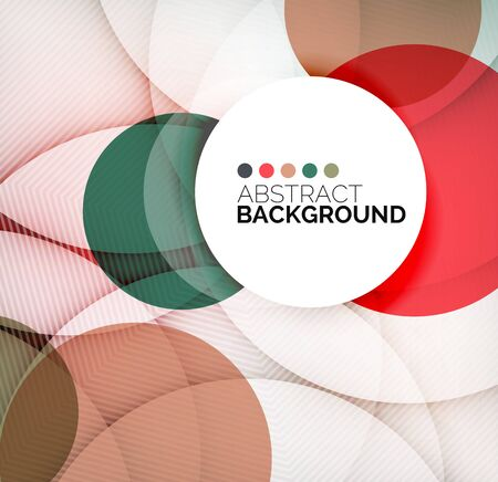 Colorful circles modern abstract composition Illustration