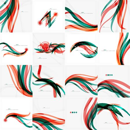 Red and blue lines background Vector
