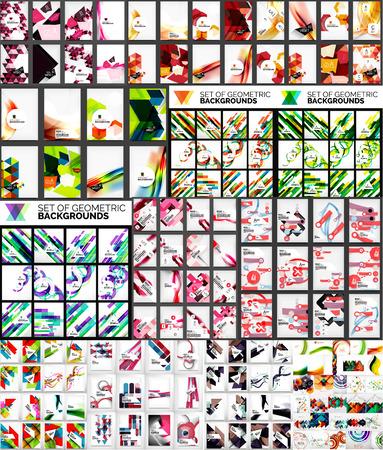 Mega collectie van geometrische vorm abstracte achtergronden