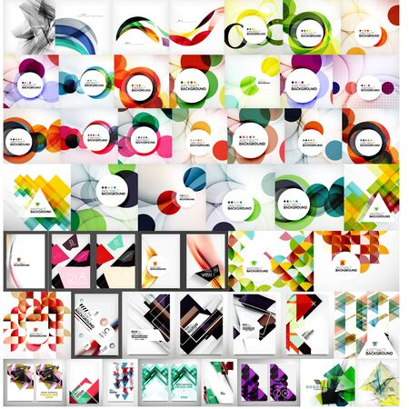 Vector mega set of abstract geometric backgrounds Vector