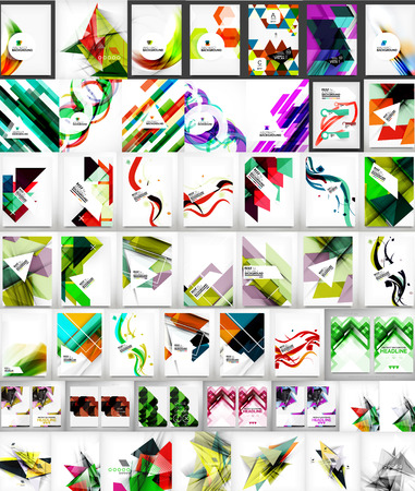 Mega collection of geometric shape abstract backgrounds Vector