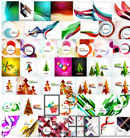 Various universal set of abstract backgrounds Vector