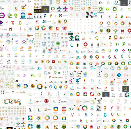 Vector abstract company icons mega collection Vector