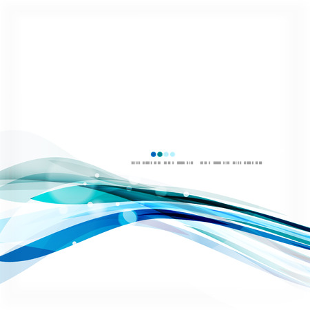 Blue business corporate wave line background