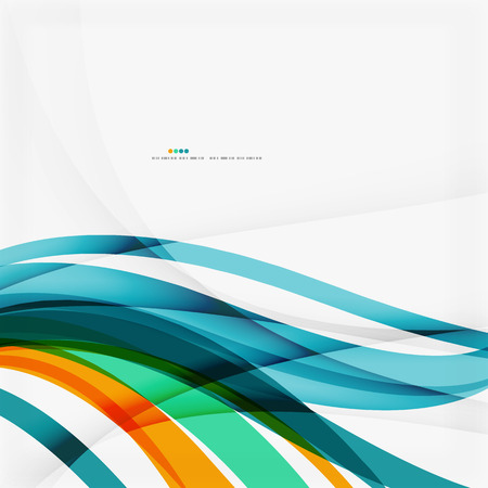 Modern blue and orange color shape composition Vector