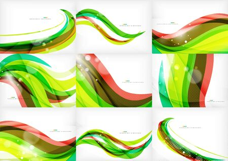 red line: Green and red line swirls
