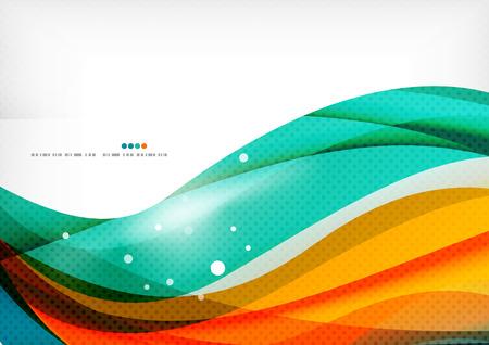 Lignes verte et orange moderne abstrait Banque d'images - 36961251