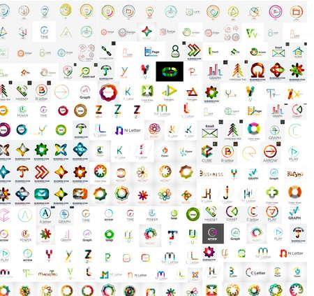 logotipos de empresas: Resumen empresa colecci�n vector logo