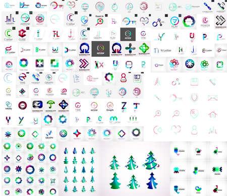 Mega collection of universal logos Vector