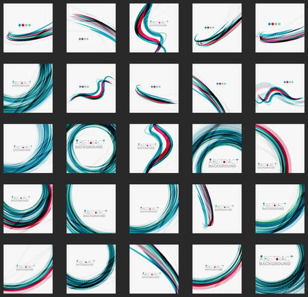 Blue wave abstract background Vectores