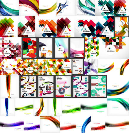 Vector mega set of abstract geometric backgrounds