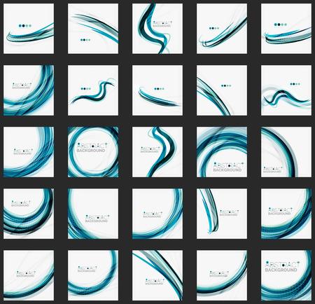 Blauwe golf abstracte achtergrond Stock Illustratie