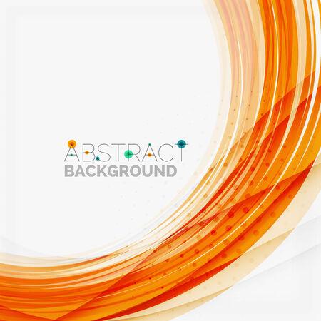 Blau und orange Linie abstrakte Hintergrund