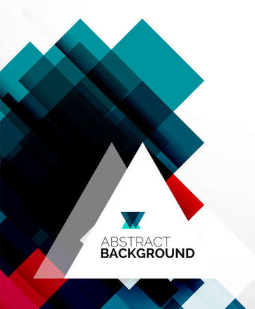 Square shape abstract layouts, business template Vector