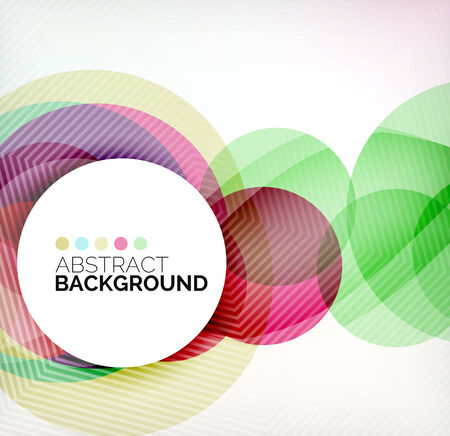 Colorful circles modern abstract composition Stock Illustratie