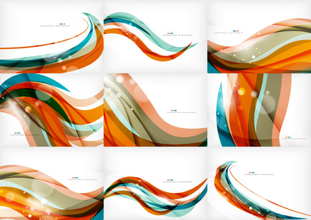 orange swirl: Blue orange line concept Illustration
