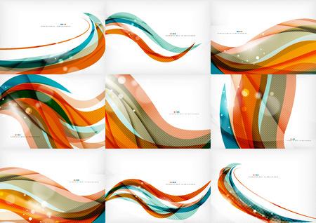 curvas: Naranja azul concepto de línea