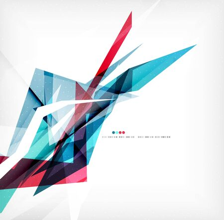 angular: Angular geometric color shapes Illustration