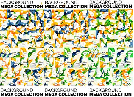 mega: Mega set of abstract backgrounds Illustration