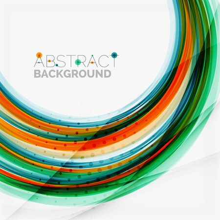 Blue and orange color line abstract background Vector