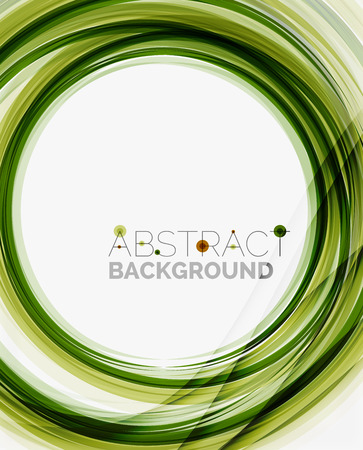 Green eco nature wave background, ground or grass concept Vector