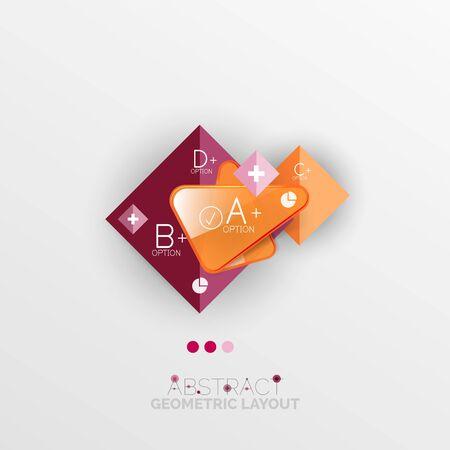 Modern abstract geometric info banner Vector
