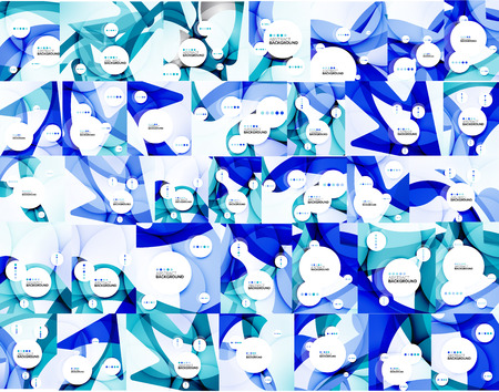 colo: Mega collection of colo waves abstract backgrounds Illustration