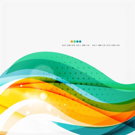 red swirl: Blue, orange, red swirl wave lines. Light design
