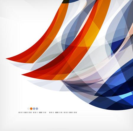 Business wave corporate background Illustration