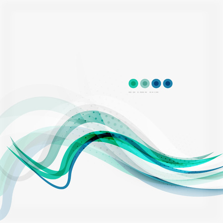 Blue and green color abstract waves Vector