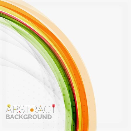 Orange and green wave line design, nature eco concept Vector
