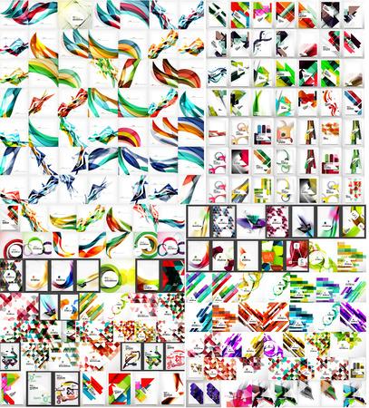 Universal enorme mega set van abstracte achtergronden Stock Illustratie